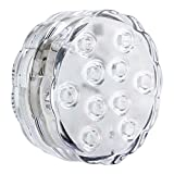 10LED Multi Color Wireless Submersible Light , Underwater Waterproof Diving Lamp W/Remote Controller for...
