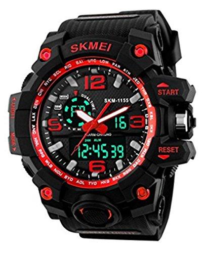 SKMEI Analogue Men's Watch (Black Dial Black Colored Strap)