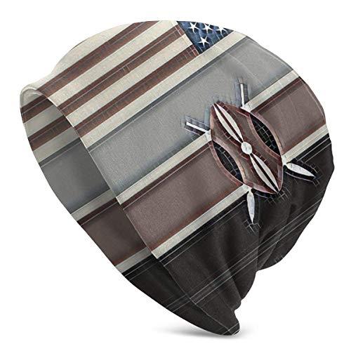 shenguang Bandera Americana-Bandera de Kenia Gorro de Punto Unisex Gorros elásticos Suaves Gorro de Calavera Gorro de Cobertura, Gorro