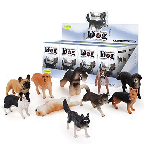 Modelo De Animales Caja De Persiana Juguetes - Mini Figuras De Perros Juguetes Juguetes Educativos De Animales Preescolares Set 8 Piezas Caja Ciega, Juguetes De Modelado Aleatorio Sorpresa Caja Ciega