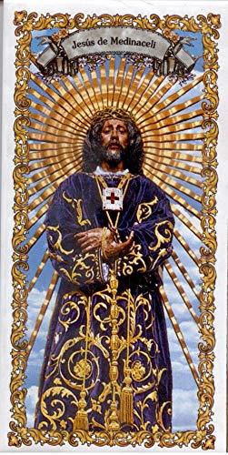 Cristo Jesús de Medinaceli. Azulejo fabricado artesanalmente para decorar. Cerámica para colgar. Calca cerámica. TORO DEL ORO (20x30 cms)