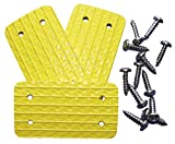Unhinged Solutions Igloo Cooler Replacement Hinges, (Set of 3) - Unbreakable, Made in USA, Repurposed Fire Hose