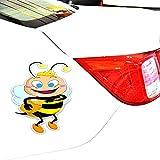 7Cmx14Cm Autoaufkleber Die Bienen essen köstlichen Honig Cartoon Kreativität Aufkleber Autoaufkleber Vinyl