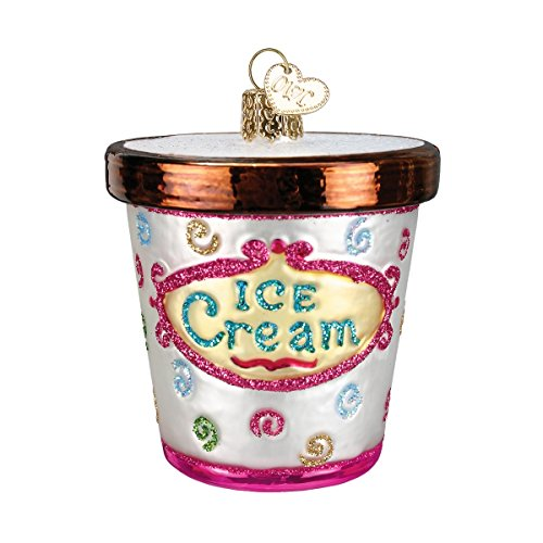 Old World Christmas Ice Cream Lover Gifts Glass Blown Ornaments for Christmas Tree Carton