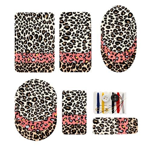 HEALLILY Eisen auf Flecken Leopard Patches ellenbogen Knie Applikationen DIY Tuch Patches für Jeans Kleidung Hosen jacken nähen Reparatur 18 stücke