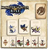9 PCS Monster Hunter Rise NFC Mini Cards, Ailucat, Gark, Resentment Dragon Compatible with Switch/Switch Lite/New 3DS