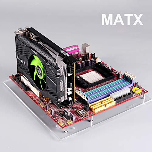 PC テストベンチ オープンフレーム アクリル 透明 DIY ベーススタンド ベアフレーム グラフィックカード MATX