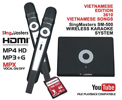 Best Deals! SingMasters Magic Sing Vietnamese Karaoke Machine,3610+ Vietnamese Songs,Dual wireless M...
