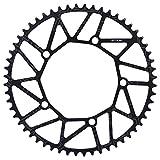 Jadeshay Bike Chain Ring Single Chainring Positive & Negative Teeth 130BCD Crank Single Disc 130BCD 50 52 54 56 58T (Size : 58T) for Bicycle Road Bike Mountain Bike BMX MTB Fixie Track Fixed