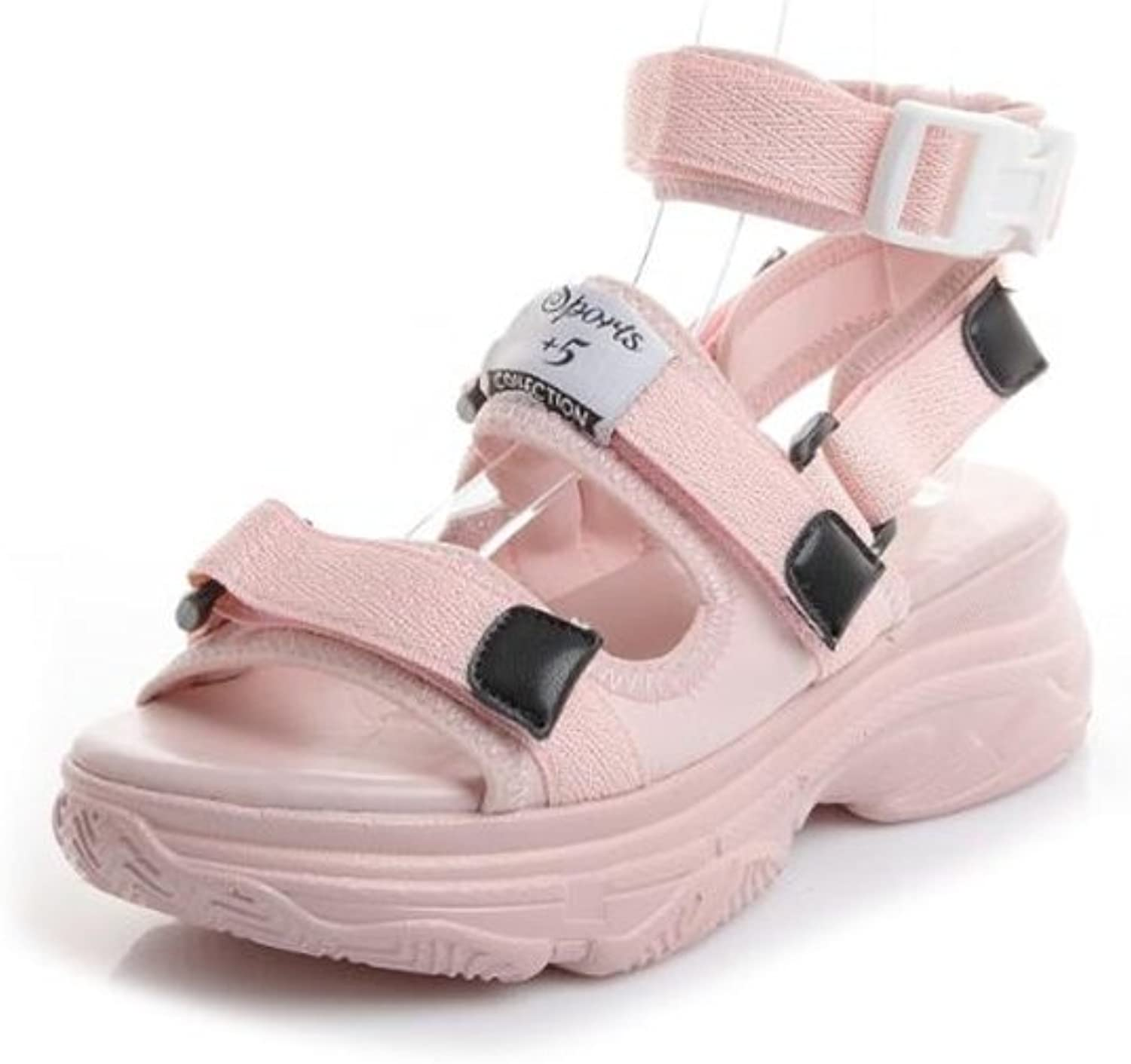 Women's Comfort Open Toe Wedge Sandal Platform shoes with Ankle Strap