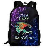 YunDon 3D Printing Adult Backpack,I'm A Lazy RainWing School Bag,Knapsack,Rucksack