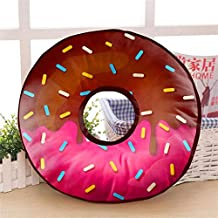 Generic Velvet Fabric Doughnut Cushion Soft Toy Suitable for Wheelchair, Car Seat, Home or Office(14x14 Inches) - Multicolour