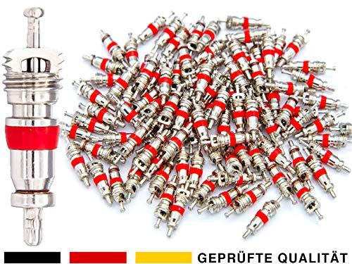 40x Autoventil Ventilkerne, Ventileinsätze für Schrader-Ventil oder AV Reifenventile mit Auto-Ventile kompatibel für Fahrzeuge wie KFZ, PKW, LKW, Motorrad, Roller, Moped, Mofa, Fahrrad oder Schubkarre