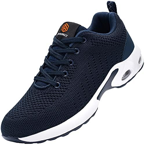 Zapatos de Seguridad Mujer Zapatillas de Seguridad Zapatos de Trabajo Calzado de Trabajo con Punta de Acero Ligeros (Vestido Azul,35 EU)