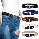 TAIYANYU Buckle-Free Invisible Elastic Waist Belts for Women or Men, Invisible Belts White