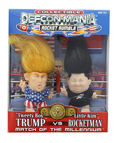 Defcon-Mania Global Toy Trump vs Kim Jong-un Collectible Troll Doll Set