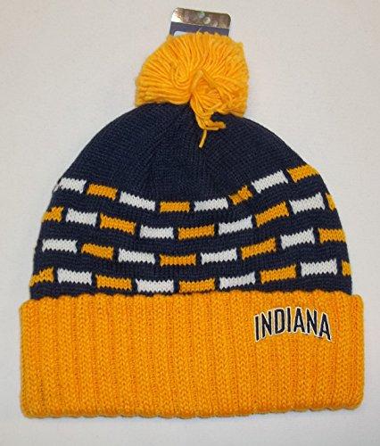 indiana Pacers Cuffed Knit Hat W/pom da donna Adidas KL18W–