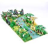 OATop Tropischer Regenwald Botanische Landschaft Bausteine mit Bauplatten, Dschungel Set, DIY Custom Bauspiel Bausatz Kompatibel mit Lego Baumhaus