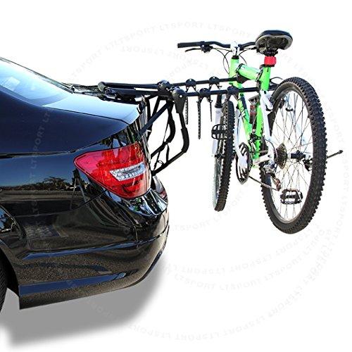 LT Sport 4-Door Sedan Trunk Mount Bike Rack Holder Car Rear Trunk Mount 3 Bicycle Carrier