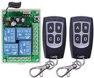 Alta sensibilidad DC 12 V 4 CH 4 canales mando a distancia inalámbrico interruptor emisor receptor receptor relé receptor + emisor control remoto puerta garaje luz riego de jardín