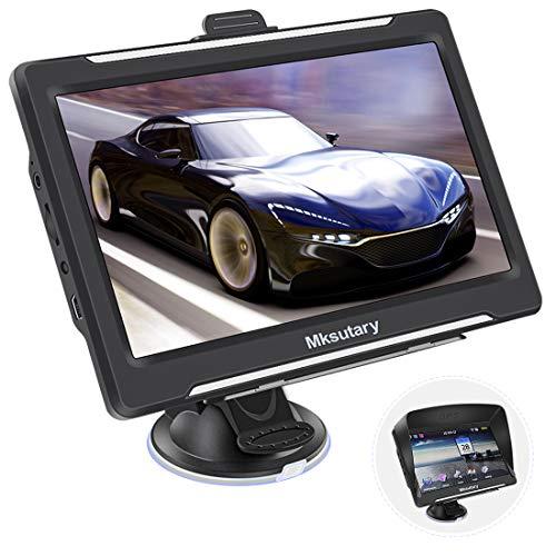 GPS Voiture, Rechargeable GPS Navigation pour Voiture,7 Pouces GPS Camping Car Navigation Auto, Carte de Mise à Jour Gratuite à Vie