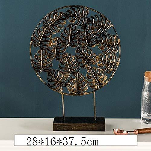 DIAOSUJIA in Noordse stijl brons rond blad figuur creatieve ijzeren plant ornamenten strijkijzer handwerk woonkamer decoratie voor thuis