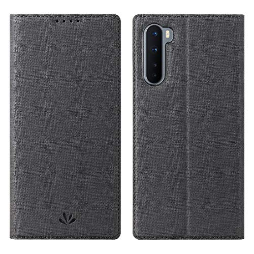 Foluu Oneplus Nord 5G Case, Flip Folio Wallet Cover Slim Premium PU Leather Case ID Credit Card Slots Stand Kickstand and Magnetic Closure Clear TPU Bumper Cover for Oneplus Nord 5G 2020 (Black)