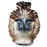 Moda 3D Cool Owl Print Hoodie Sweathirts Hombres Mujeres Harajuku Animal Design Hoodies Jerseys Chándales