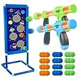 Juego de tiro para niños de Nerf, 5, 6, 7, 8, 9 y 10 años de edad, 2 pelotas de espuma, 36 bolas de espuma, para interior y exterior, regalo de cumpleaños para niños