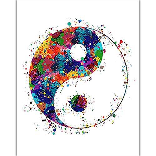 Misszhang Arte De Pared Flor De Loto Lienzo Pintura Yoga Zen Meditación Bohemia Buda Póster E Impresiones Imágenes Artísticas Sin Marco S2034 40X60Cm