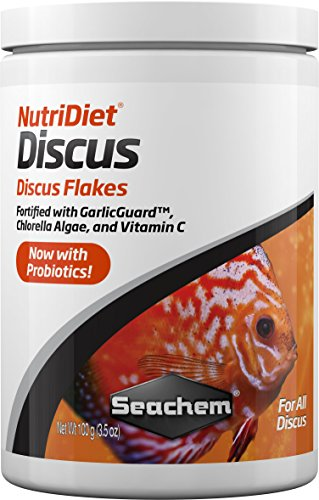 Seachem NutriDiet Discus Flakes - Fortified Ornamental Fish Food Supplement 100g