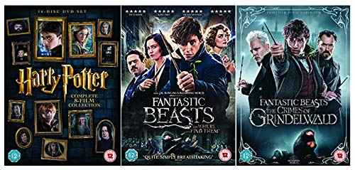 Harry Potter 1-8 + Fantastic Beasts and Where To Find Them + Fantastic Beasts The Crimes of Grindelwald DVD Collection