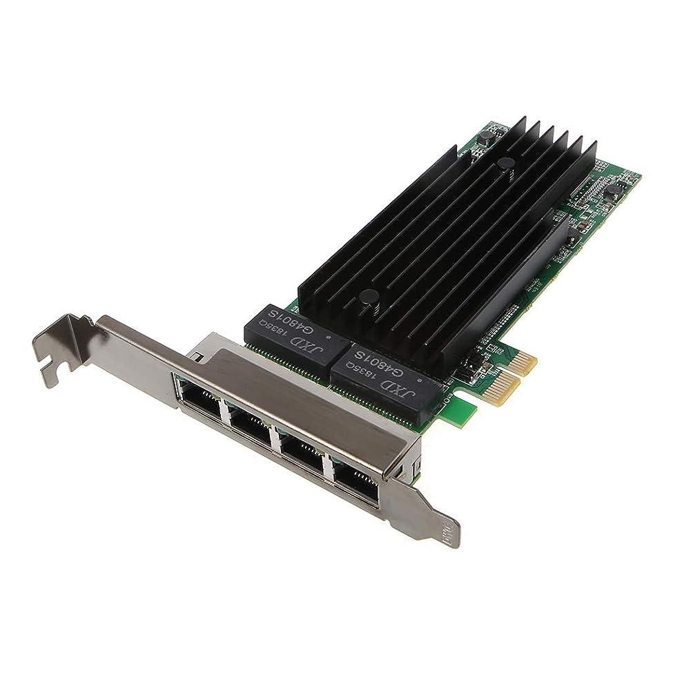 札入れ遮るトリクルAbnana 4ポートRJ45ギガビットイーサネットPCI-Express X14サーバーアダプターネットワークカードIntel82575-T4チップ