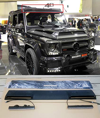 Front Roof Spoiler with LED DRL Mercedes Benz G-Class W463 Brabus Style 2017
