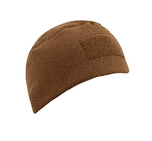 Rothco Men's Polar Fleece Tactical Watch Cap Beanie w/ Hook Loop Patch Area Coyote Brown