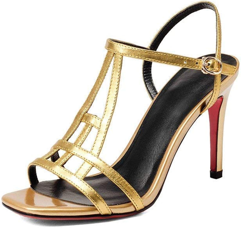 Willsego Sommer Herren Sandale Breathable Herren Schuhe Leder Hohle Schuhe Herren Loch Schuhe Herrenschuhe (Farbe   Gold, Größe   35)    Spezielle Funktion