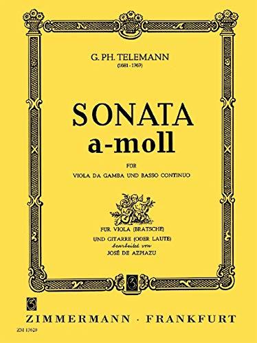 Sonata a-Moll: Viola und Gitarre (Laute).