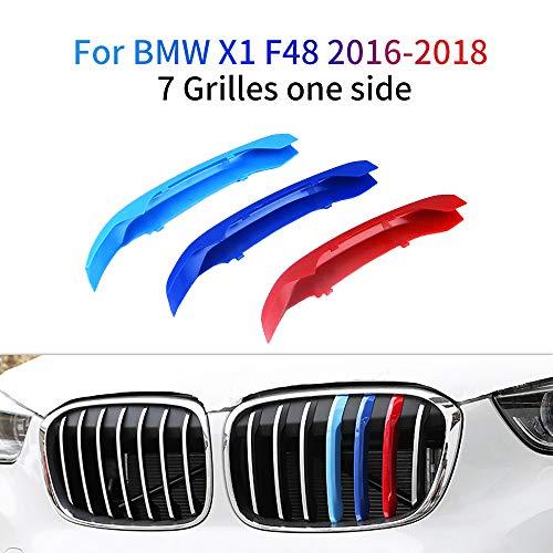 M colore Adesivi per griglia anteriore, Clip di Grille del rene, Grill Inserire copertine Per X1 F48 2016-2018 3 Pezzi (7 Rod)