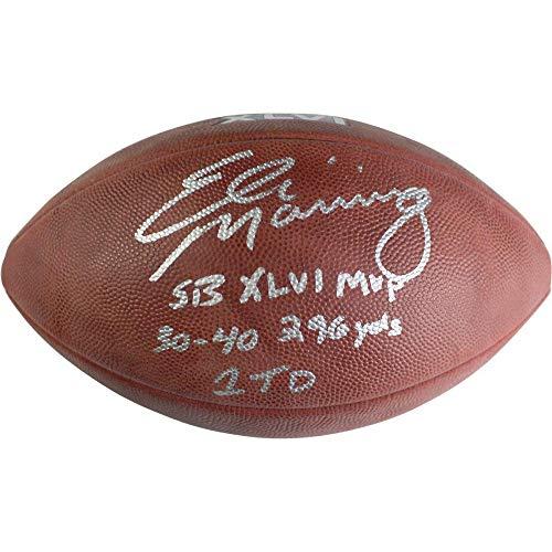 Eli Manning New York Giants Signed Autograph Authentic SB Super Bowl XLVI NFL Duke Football MULTI Inscribed RARE Steiner Sports Certified