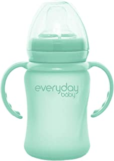Everyday baby Glass Sippy Cup Shatter Protected, Mint Green, 150ml