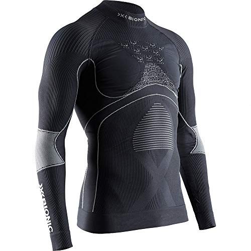 X Bionic Energy Accumulator 4.0 Turtle Neck Long Sleeves Strato Base Camicia Funzionale, Charcoal/Pearl Grey, XXL Uomo