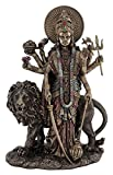 "CRAFTSTRIBE 11"" Maa Durga Hindu Goddess Tall Standing Statue with Lion Durga MATA for Home Temple"