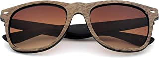 Fashion UV Protection Handmade Men and Women Retro Personality Colored Lens Wood Sunglasses Retro (Color : Orange)