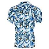 Camisa Estampada para Hombre Jinyuan Summer Funky Beach Party Ocio Camisas Hawaianas para Hombres Ropa De Manga Corta con Botones