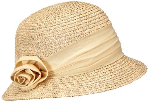 Seeberger Damen Damenstrohhut Sonnenhut, Beige (leinen 93), Medium (Herstellergröße: Orig)