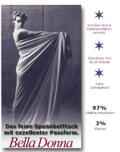 Bella Donna Jersey Spannbetttuch 245 cm Ø für runde oder achteckige Wasserbetten