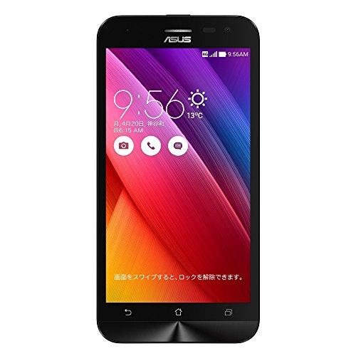 {エイスース SIMフリースマートフォン ZenFone 2 Laser(Qualcomm Snapdragon 410/メモリ 2GB)16GB ホワイト ZE500KL-WH16}