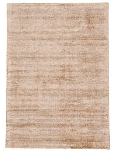 carpetfine Tapis en Viscose Ava Beige 160x230 cm | Tapis Moderne pour Le Salon et la Chambre à Coucher