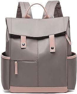 حقيبة ظهر نسائية من كايكسياوتينغ حقائب كتب للفتيات حقيبة ظهر معطف مطر حقيبة مدرسية (اللون: كاكي)