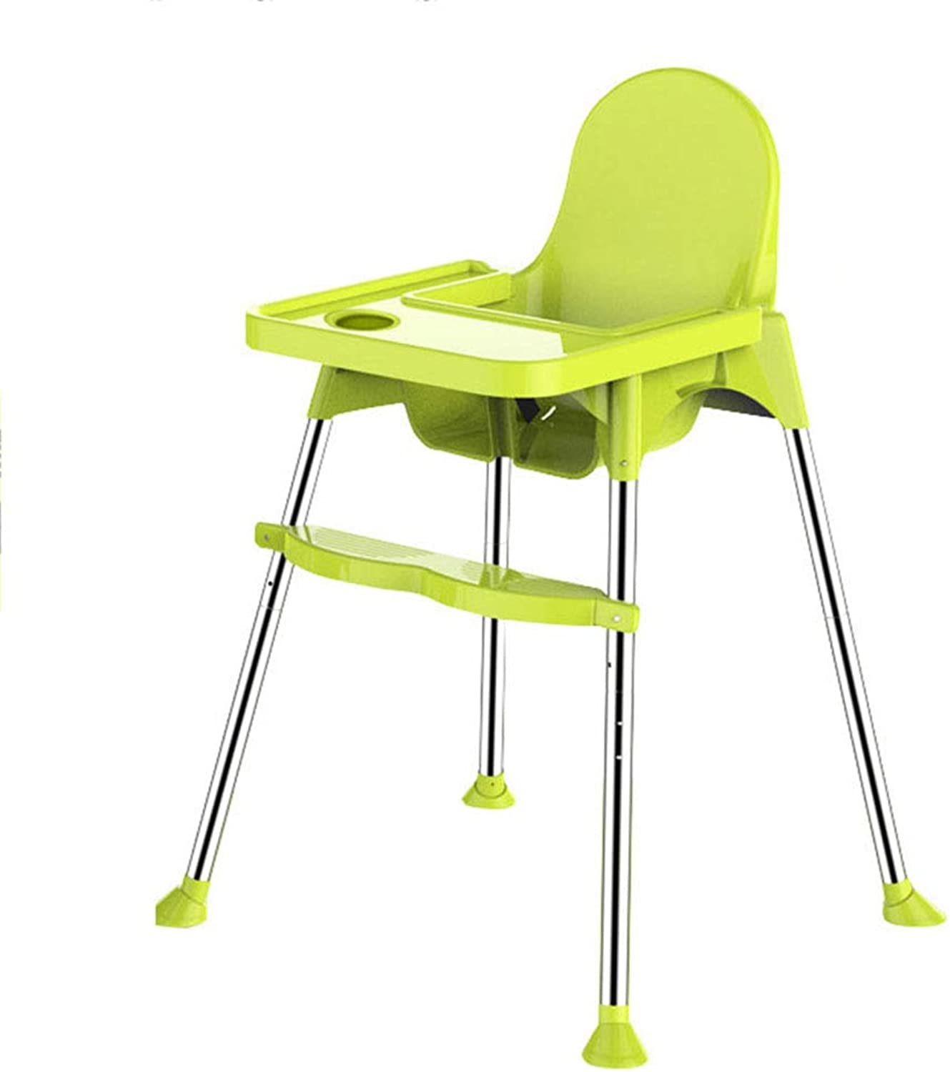 Portable Baby Dining Chair Highchairs - with Seat Belt and Adjustable Pedal, Seat Height Adjustable